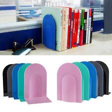 "2 x 7.8"" L-Shaped Anti-skid Bookends Shelf Book Case Holder Home Office"