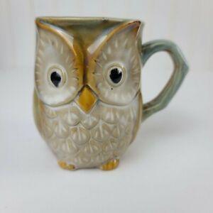 Hand Glazed Owl Mug Excellent Condition Wildlife Owl Coffee Tea