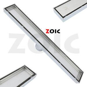 300-1800MM Tile Insert Linear Floor Drain Shower Bathroom Waste Grate Stainless