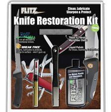 Flitz Knife Restoration Kit Polish + Microfiber + Sharpener + Lubricant #KR41511
