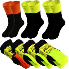 3-12 Pairs Mens Winter Hi Vis Thermal Warm Work Safety Boots Crew Socks 10-13