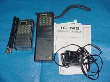 Pair of 2 Icom Vhf Marine Radiotelephones Ic-M5 w charger, antennas & Schematic