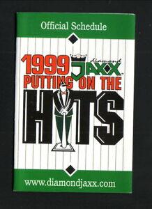 West Tenn Diamond Jaxx--1999 Pocket Schedule--Union Planters Bank-Cubs Affiliate