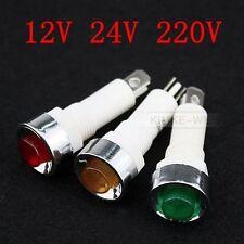 10mm LED Leuchtmelder Kontrollleuchte Signalleuchte Signallampe NHC 12V 24V 220V