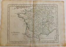 La france par postes carte géographique map Le Rouge vers 1756