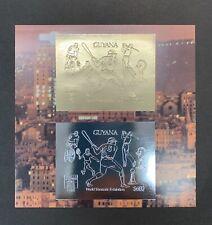 Guyana 1992 Baseball  Gold & Silver Imperf Compound Sheet MNH 3