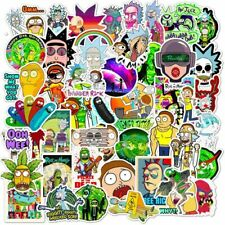 25/50pcs Cartoon Rick And Morty Stickers Waterproof Skateboard Travel Suitcas