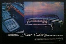 1964 Mercury Comet Caliente FOMOC 289 V-8 2 page Interior print car ad 1965 1963