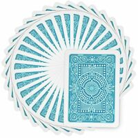 Modiano Texas Poker Plastic Playing Cards, Poker Size, Jumbo Index, Light Blue