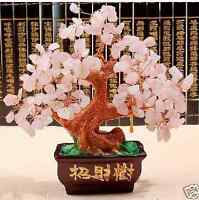 AAA+ Lucky tree!!! Natural rose crystal gem tree reiki 348g