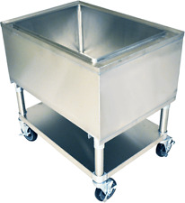 """21"""" x 24"""" Stainless Steel Mobile Ice Bin"""