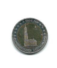 MONEDA 2 EUROS C. ALEMANIA 2008 LETRA G. HAMBURG. SIN CIRCULAR