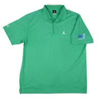 Nike Mens Michael Jordan MJ Invitational Aria Polo Golf Shirt Size XL Green