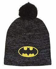 Batman Metallic Lurex Pom Beanie Hat