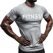 LCS® #4 Muscle T Shirt Sport Training Gym Bodybuilding Fitness Tuning Kraft