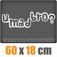 U Mad Bro? chf0114 BIANCO 60 x 18 cm POSTERIORE DISCHI ADESIVI