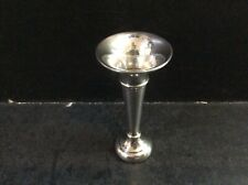 More details for vintage miniature silver bud vase 7.5cm 12.5g sanders & mackenzie hm: b'ham 1968