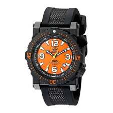 Reactor Men's Watch Titan Quartz Orange Dial Black Rubber and Nylon Strap 43808