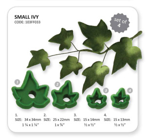 JEM Set of 4 SMALL IVY Foliage Leaf Leaves Icing Cutters Cut Out Sugarcraft Cake