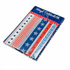 """Patriotic America July 4th Stars and Stripes Vinyl Tablecloth 52"""" x 70"""" Oblong"""
