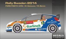 DECALS 1/24 FORD FIESTA WRC #14 SOLOWOW - RALLYE DE SUEDE 2014 -MF-ZONE DC2411
