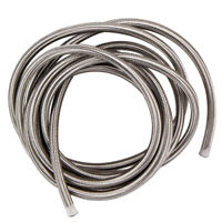 -8 AN Stainless Steel Braided Fuel / Oil Line Hose AN8 20 Ft 6 Meters Silver