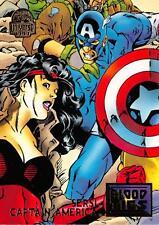 SERSI & CAPTAIN AMERICA / Marvel Universe Series 5 (1994) BASE Trading Card #34