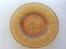 Antique Amber Glass Nursery Rhyme Childrens Plate This little Pig went to Market