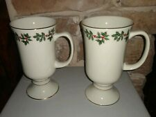 FORMALITIES by BAUM BROTHERS Christmas Holly Berry Mugs Set of 2