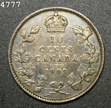 """1909 *Silver* Canada 10 Cent """"VF"""" *Free S/H After 1st Item*"""