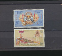 Space Achievement LAOS #C104 - C105 Mint NH Complete Air 1973 Set Rocket, Lunar