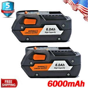 10x for Ridgid R840085 6.0Ah Hyper Lithium Battery R840087 Rigid 18V Power Tools