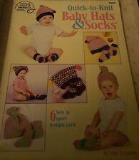 2003 AMERICAN SCHOOL OF NEEDLEWORK, QUICK-TO-KNIT BABY SOCKS & HATS
