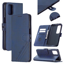 Classic Flip PU Leather Book Wallet Card Pocket  Strap Stand Case Lot Cover HX