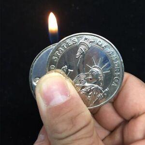 Pendant Coin Jet Lighter Key Chain Butane Gas Cigar Cigarette Keychain Lighters