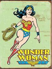 Wonder Woman Figure Retro Vintage Look Metal Tin Sign Kids Room New