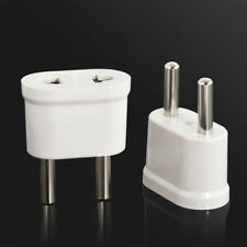 1* White Travel Charger Wall AC Power Plug Adapter Converter US USA to EU Europe