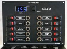 10 Way Circuit Breaker & Switch Panel with digital Voltmeter