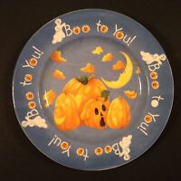 The Sakura Table Halloween Party Plate Pumpkins Boo to You! Kathy Hatchi