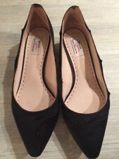 Ladies Dune Rupert Sanderson Black Statin Low Heel Shoes Size 6