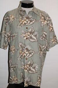 KAHALA Mens Large L 100%Silk Button-up shirt Combined ship Discoun