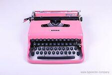 SALE!!! PINK OLIVETTI PLUMA 22 - vintage portable manual working typewriter