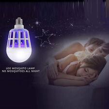 LED Bug Zapper Light Bulb 15W E27 Daylight 6800LM Flying Insects Moths Killer