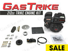 GasTrike 212cc Trike Engine Kit Gas Motorized Bicycle