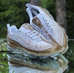 Nike Air VaporMax 360 Men's Size 14 White Metallic Gold CK9671-101