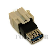 USB 2.0 A Female to A Female Inline Keystone Coupler Joiner Snap-In Insert Ivory