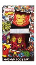 Comic Book Superheroes Ceramic Mug & Hero Themed Socks Gift Set - Ironman
