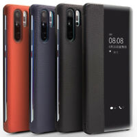 For Huawei P30 Pro Qialino Genuine Leather Smart View Auto Sleep Flip Case Cover