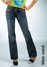 AJC by Arizona Jeans Gr.32,34,38 NEU Damen Hose Stretch Bootcut Blau Used L32