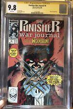 PUNISHER WAR JOURNAL #6 CGC 9.8 1st fight & meeting Wolverine vs Punisher Signed